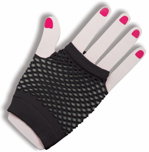 Forum Novelties Women's Fishnet Fingerless Gloves - Black        -