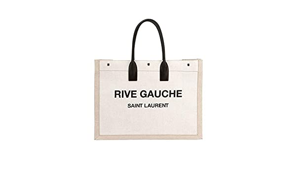 3ef2a0313b94 Amazon.com  Saint Laurent Noe Cabas Large Rive Gauche Canvas Tote Bag made  in Italy  Shoes