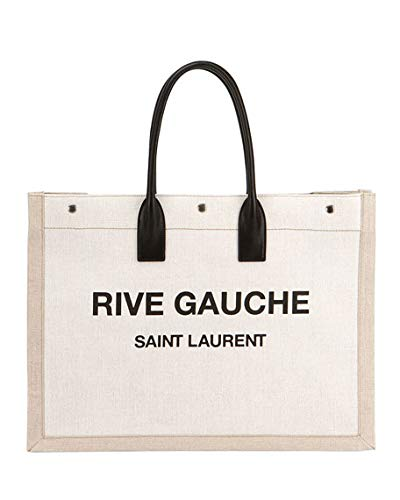 f983a816a9db Amazon.com  Saint Laurent Noe Cabas Large Rive Gauche Canvas Tote Bag made  in Italy  Shoes