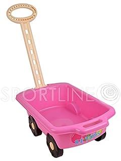 Kleinkindspielzeug 40 Kleinkind-Baby Bausteine+Bauplatte mit rosa Handwagen Ziehwagen Bollerwagen