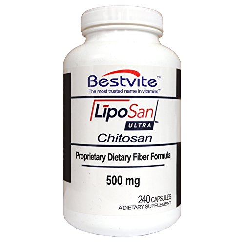 Liposan Ultra Chitosan 500mg (240 Capsules) - Patented Faster Acting than Regular Chitosan - No Stearates - No Fillers