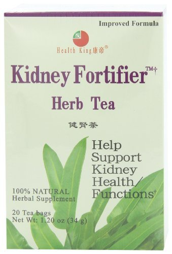 Health King Kidney Fortifier Herb Tea, Teabags, 20-Count Box by Health (Kidney Fortifier Herb Tea)