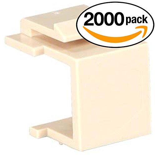 InstallerParts (2000 Pack) Snap-in Keystone Wallplate Blank Insert Ivory ()