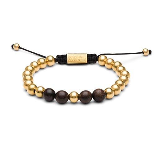 Original Grain Ebony Gold Macrame Bracelet - Gold Ebony