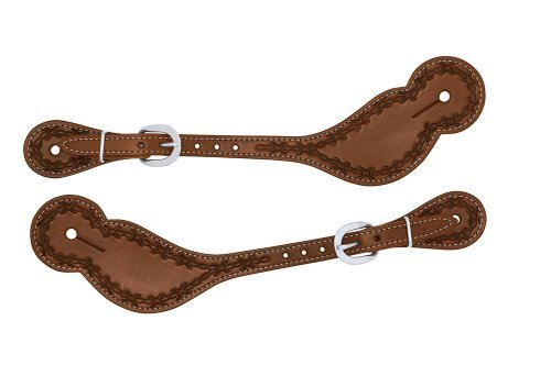 Weaver Leather Barbed Wire Regular Spur Straps B013XRM22A