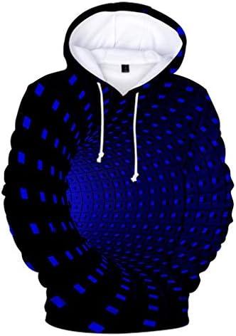 Bravetoshop メンズ ノベルティ 3D リアルプリント プルオーバー パーカー フロントポケット カジュアル ファッション パーカー スウェットシャツ アウター