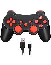 Vniqloo Mando Inalámbrico Bluetooth Controller Doble Vibración para Sony PS3 Playstation 3 con Funciones SIXAXIS