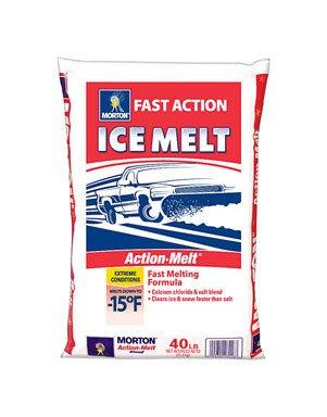 Morton Salt Salt And Calcium Blend Melts To -15 F 40 Lbs.