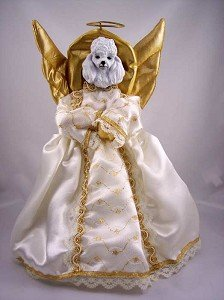 Amazon Com Poodle Angel Christmas Tree Topper Home Kitchen