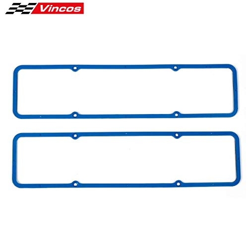 Compatible with SB CHEVY 283 305 327 350 383 400 Rubber Silicone Valve Cover Gasket 7484BOX