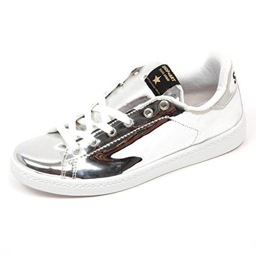 C9234 Shop Sneaker Scarpa Shoe Donna Woman Art Argento 4vqw5