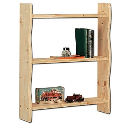 Libreria da muro in legno massello grezzo di abete 60x15x70 cm ...