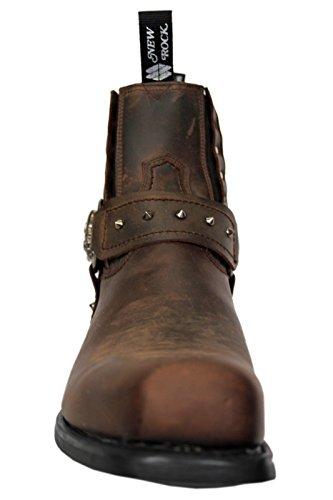 New Rock, Stivali uomo marrone Brown