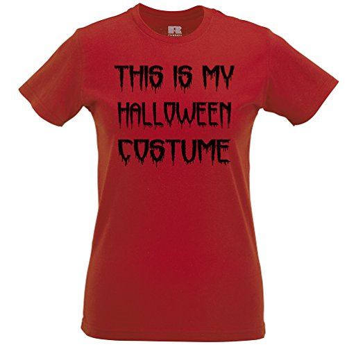 This Is My Halloween Costume Joke Funny Spooky Scary Trick Treat Dad Mom Womens T-Shirt (Funny College Halloween Costume Ideas Men)
