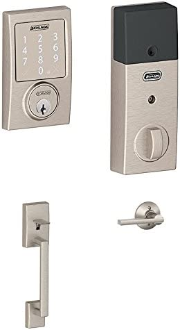 Schlage Sense Smart Deadbolt w Entry Latitude Interior Lever Satin