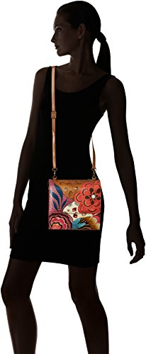 Organizer Anuschka Flap Potpourri Teal Women'S Leather Anna Painted tribal Blue Crossbody Hand BxrPqr0Xw