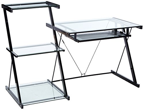 New Bookcase Metal Powder - Z-Line Nero Desk and Bookcase