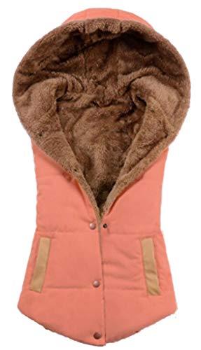 Jacket Orange Down Women Vest Quilted Outdoor Lightweight EKU Hoodie 1WxYwpqgxB