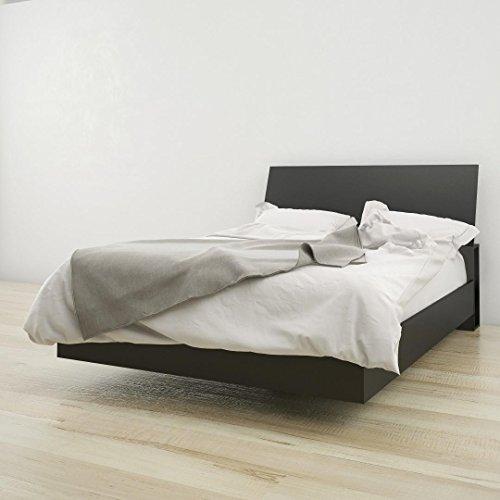 Nexera Full Size Platform Bed Bundle 400809 Black