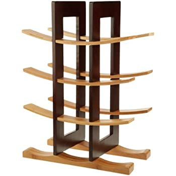 Anchor Home Collection Bamboo Wine Rack with Espresso Finish