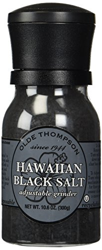 Olde Thompson Hawaiian Black Salt Adjustable Grinder,10.6 oz (Hawaiian Black Sea Salt)