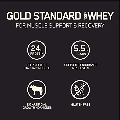 Optimum Nutrition Gold Standard 100% Whey Protein Powder, Unflavored, 2 Pound