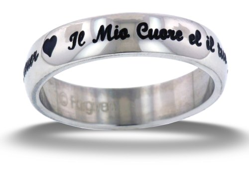 Posey Ring My Heart Is Yours Forever Italian & English Stainless Steel Ring size 6 ()