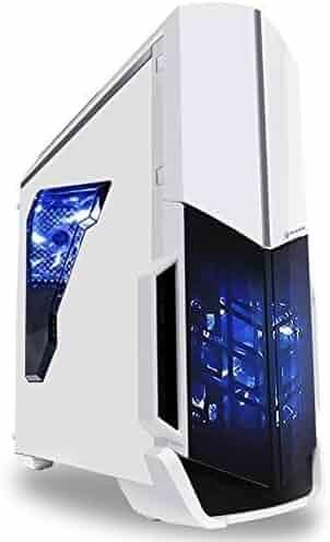 SkyTech ArchAngel GTX 1050 Ti Gaming Computer Desktop PC FX-6300 3.50 GHz 6-Core, GTX 1050 Ti 4GB, 8GB DDR3, 1TB HDD, 24X DVD, Wi-Fi USB, Windows 10 Pro 64-bit, White (GTX 1050 Ti Version)