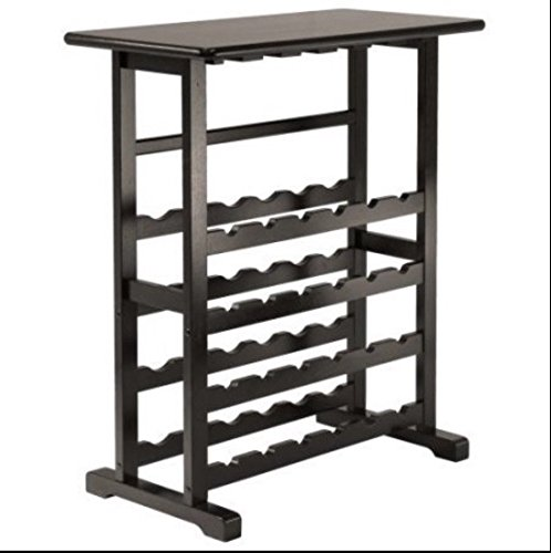 Wood Wine Rack 24 Bottle Glass Hanger Espresso Holder Storage Shelf Display by RX-789 (Image #6)