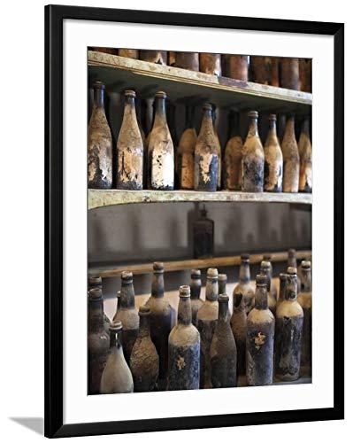ArtEdge Antique Sherry Jars, Bodegas Gonzalez Byass, Jerez De La Frontera, Spain by Walter Bibikow, Black Matted Wall Art Framed Print, 32 x 24'