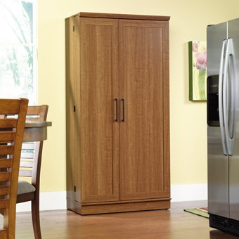 Sauder Home Plus Storage Cabinet with Sienna Oak Finish Kitchen Storage Pantry Cabinet