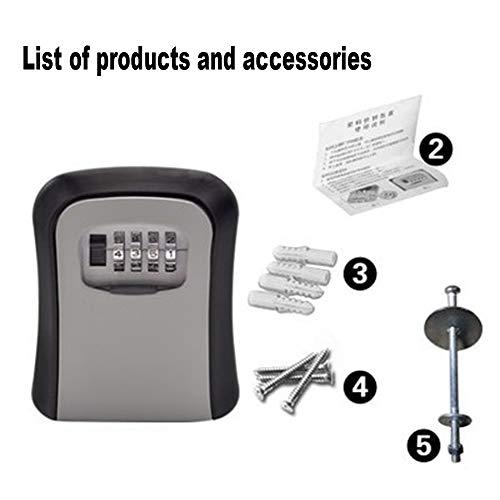 - Ruixunte Storage Secret Box Organizer Safe Security Door Lock with 4 Digit Combination Password Zinc Alloy Caja Fuerte (Gray)