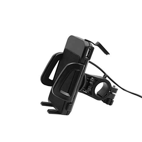 MagiDeal Motorcycle Bike Cell Phone GPS Handlebar Lever Mount Holder Grip USB Charger