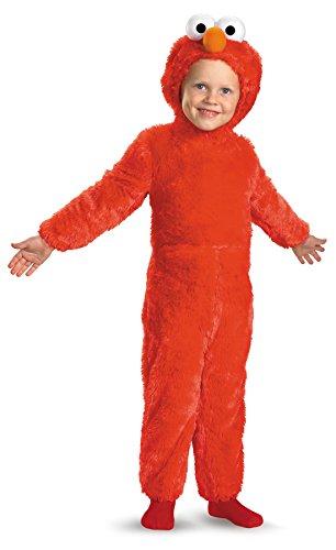 [UHC Sesame Street Elmo Plush Jumpsuit Infant Toddler Kids Halloween Costume, 12-18M] (Elmo Plush Jumpsuit Infant & Toddler Costumes)