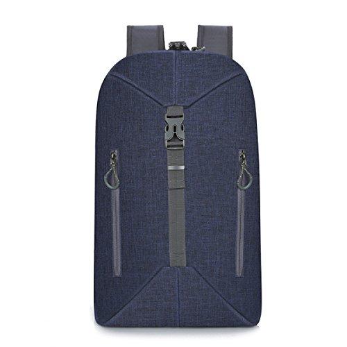 Mochila Personalizada Deformación Deportes Anti-robo Paquete De Ocio Al Aire Libre Bolsa De Viaje Bolso Blue