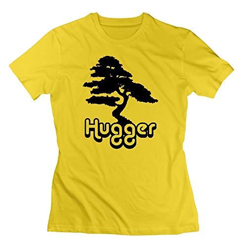 Tree Hugger Womens Tshirts Yellow