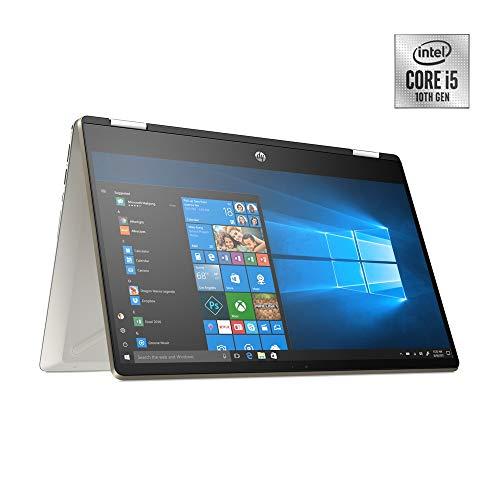 HP Pavilion x360 14-dh1036ne Convertible Laptop, 14 inches FHD, Intel® Core™ i5 processor, 8GB RAM, 512GB SSD, NVIDIA GeForce MX130 2GB, Stylus Pen, Windows 10 Home, EN-AR KB, Gold-Middle East Version