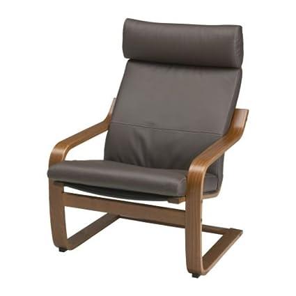 Amazon Com Ikea Poang Armchair Medium Brown With Robust Dark Brown
