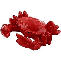 uxcell Ceramic Aquarium Fish Tank Fishbowl Underwater Crab Design Artificial Animal Ornament Red