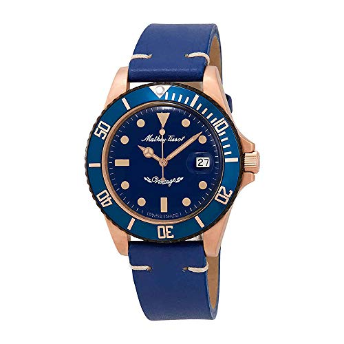 Mathey-Tissot Rolly Vintage Bronze Automatic Blue Dial Mens Watch H901BZBU