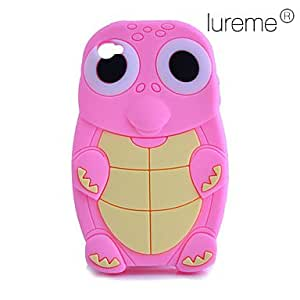 LCJ Silicon Cartoon Turtle Pattern Soft Case for iPhone 4/4S , Purple