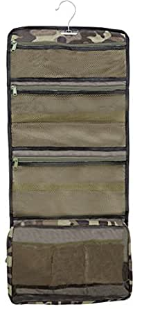 Lilliput Hanging Toiletry Bag & Cosmetic Organizer, Extra Large, YKK Zippers (Camo)