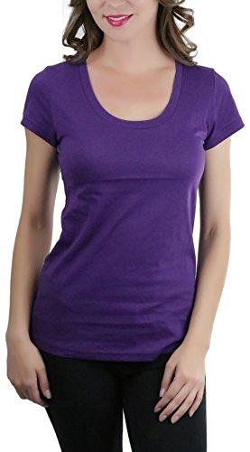 ToBeInStyle Women's Short Sleeve Scoop Neck T-Shirt -