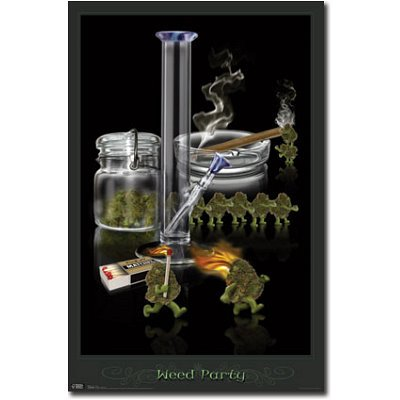 marijuana posters and decorations