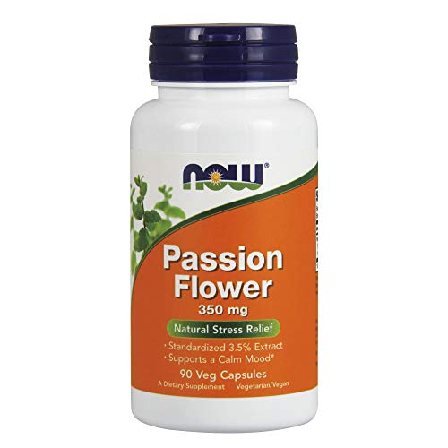 NOW Supplements, Passion Flower (Passiflora incarnata) 350 mg, Natural Stress Relief*, 90 Veg Capsules