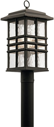 Kichler 49832OZ Beacon Square Outdoor Post, 1 Light Incandescent 150 Watts, Olde Bronze