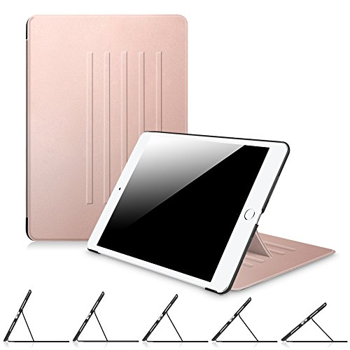 Fintie iPad 9.7 Inch 2018 2017/iPad Air 2/iPad Air Case - [Multiple Secure Angles] Slim Magnetic Kickstand Protective Cover Auto Sleep/Wake Feature for iPad 9.7'' (6th Gen, 5th Gen), Rose Gold by Fintie