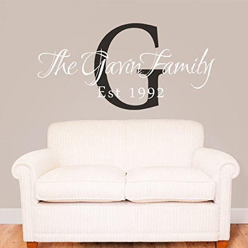 Family Name Decal Personalized Family Name Quote Monogram Established Date Sticker Vinyl Family Wall Art Decoration