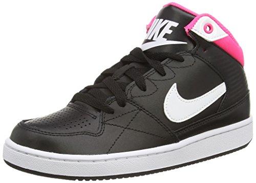 NikePriority Mid (GS) - Zapatillas Niños^Niñas negro - Schwarz (Black/White-Hyper Pink 016)