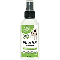 FleaEx Tick Remover Flea and tick Prevention for Dogs | Insect Repellent with Geranium Essential Oil | Alternative to Bug Zapper Outdoor